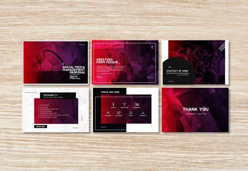 تصميم العروض التقديمية لبعض الشركات